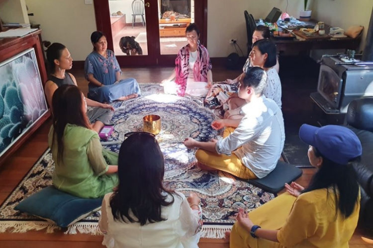Meditation with the team from Sacred Healing Retreats - Health Space Clinics