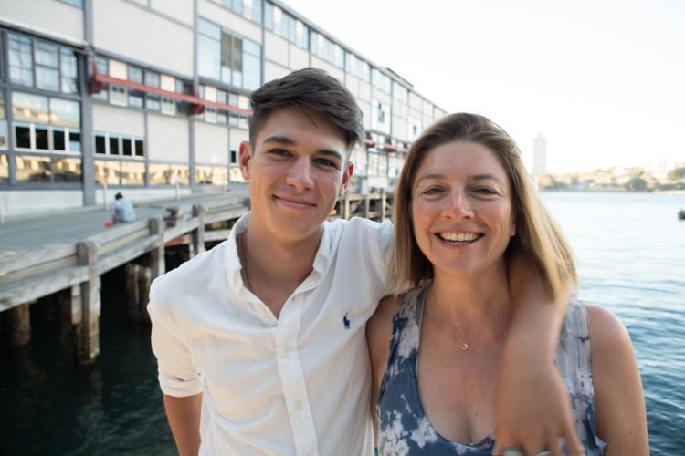 Nadine and son Leroy